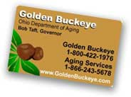 Click here for info on the golden buckeye card
