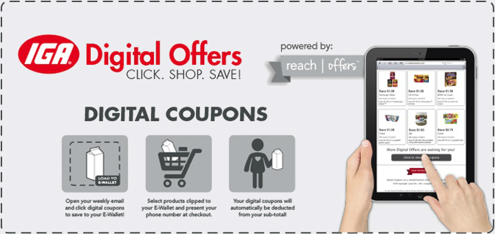 Click here to our digital coupons