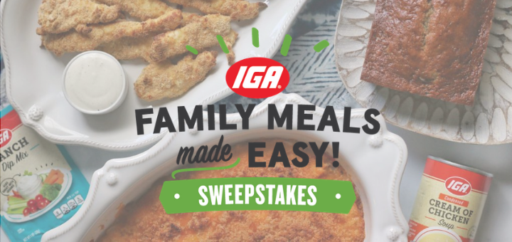 Family Meals Made Easy Sweepstakes