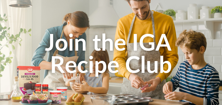 Join the IGA Recipe Club