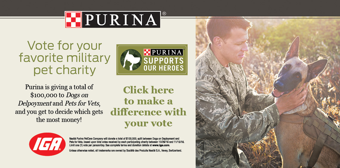Purina Supports Our Heroes