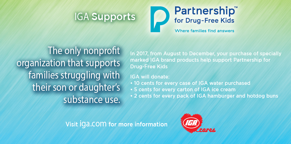 IGA Supports Partnership for Drug Free Kids