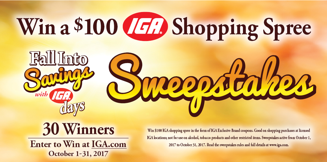 Fall Into Savings Sweepstakes
