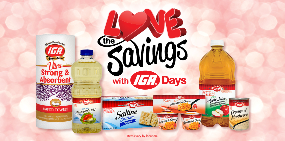 IGA Love the Savings this February