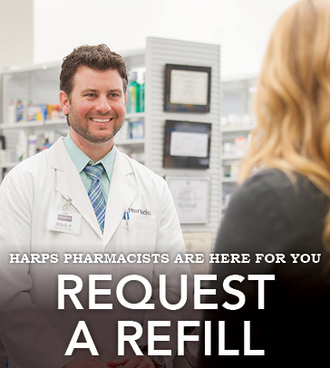 Request a pharmacy refill.