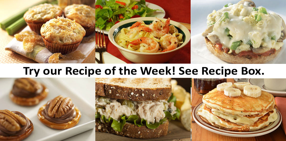 Try our recipe of the week!