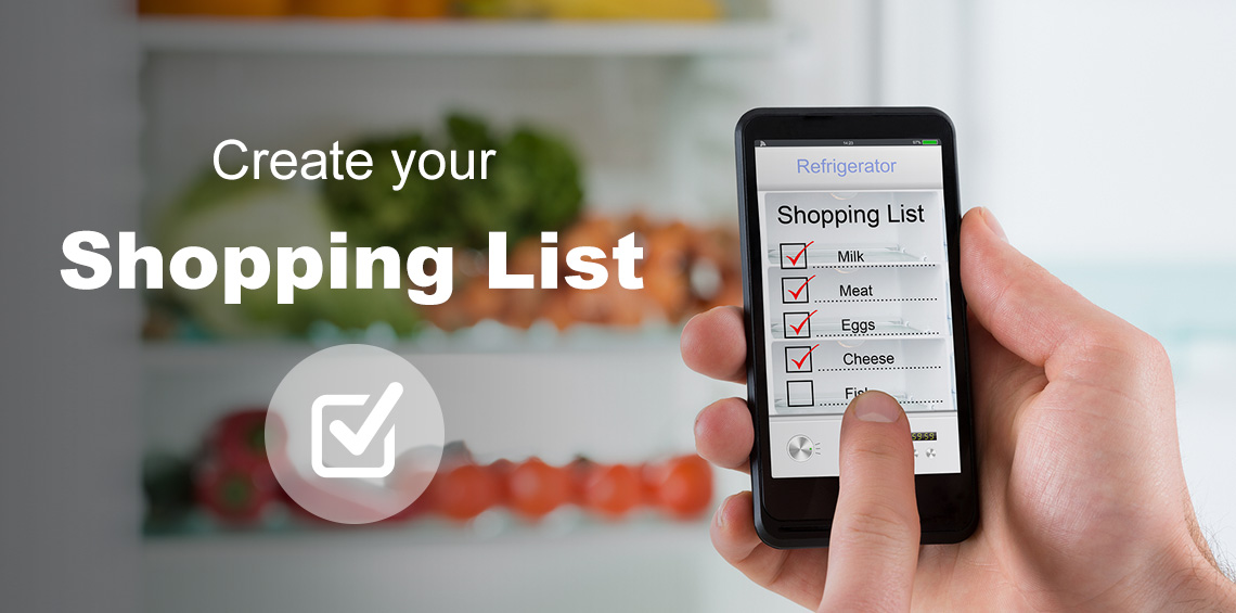 Create an Online Digital Shopping List