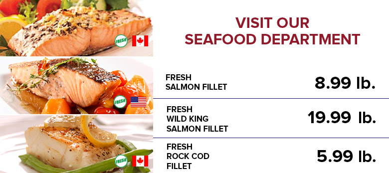 Seafood Sale Items!