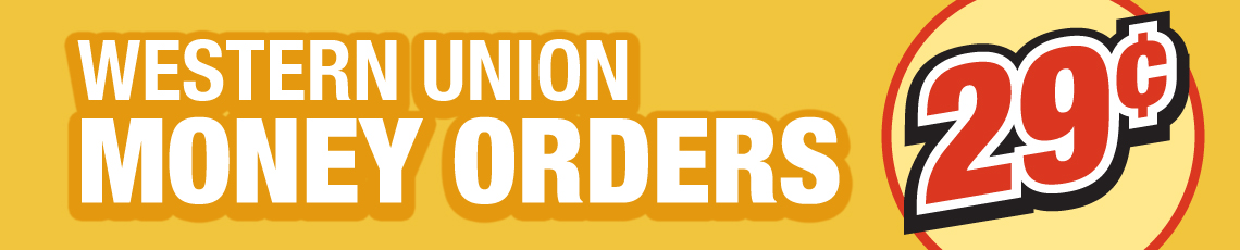 Western Union Money Orders29¢