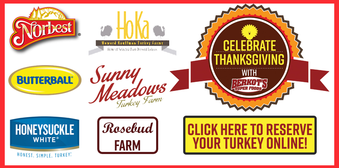 Order Your THanksgiving Turkey TODAY!
