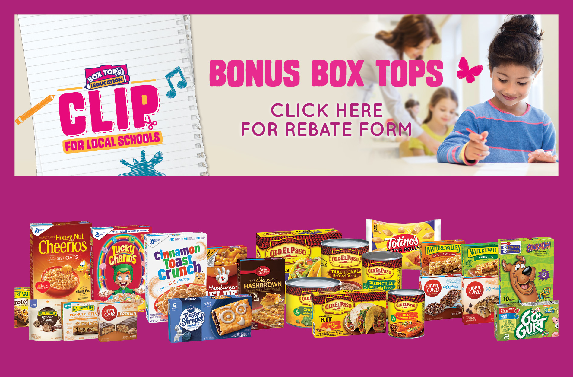 Box Tops Rebate Form