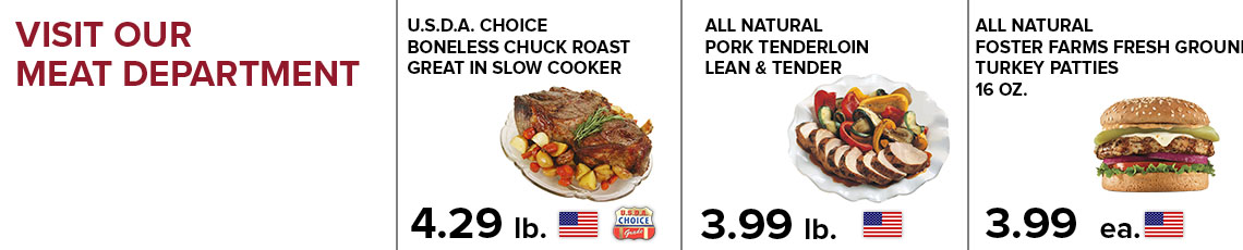 Meat Items on Sale this week!