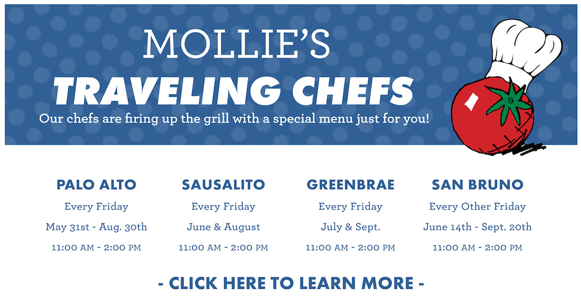 Mollie's Traveling Chef is Back! Click to learn more