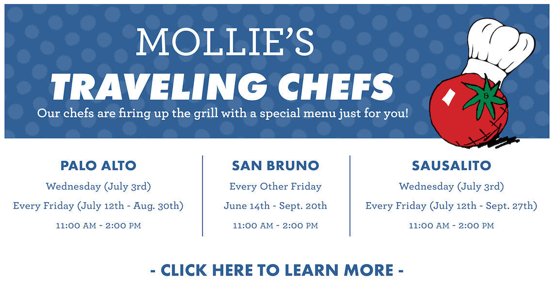 Mollie's Traveling Chef is Back, Click to learn more