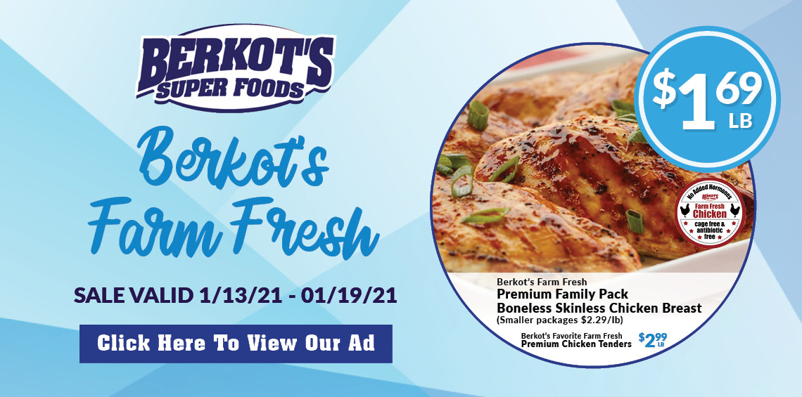 Berkot's Super Foods Boneless skinless chicken breast ad