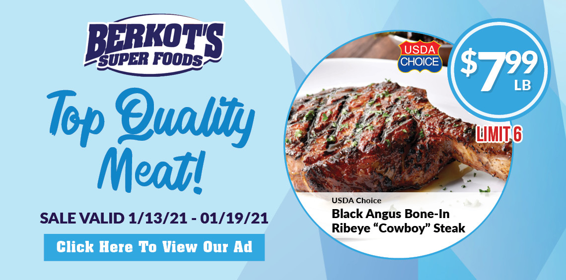 Berkot's Super Foods Sales Ad Cowboy steak